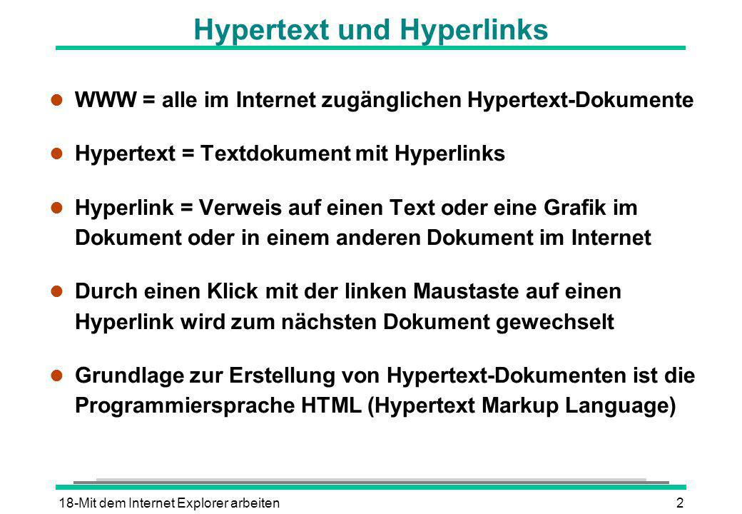 Hypertext und Hyperlinks