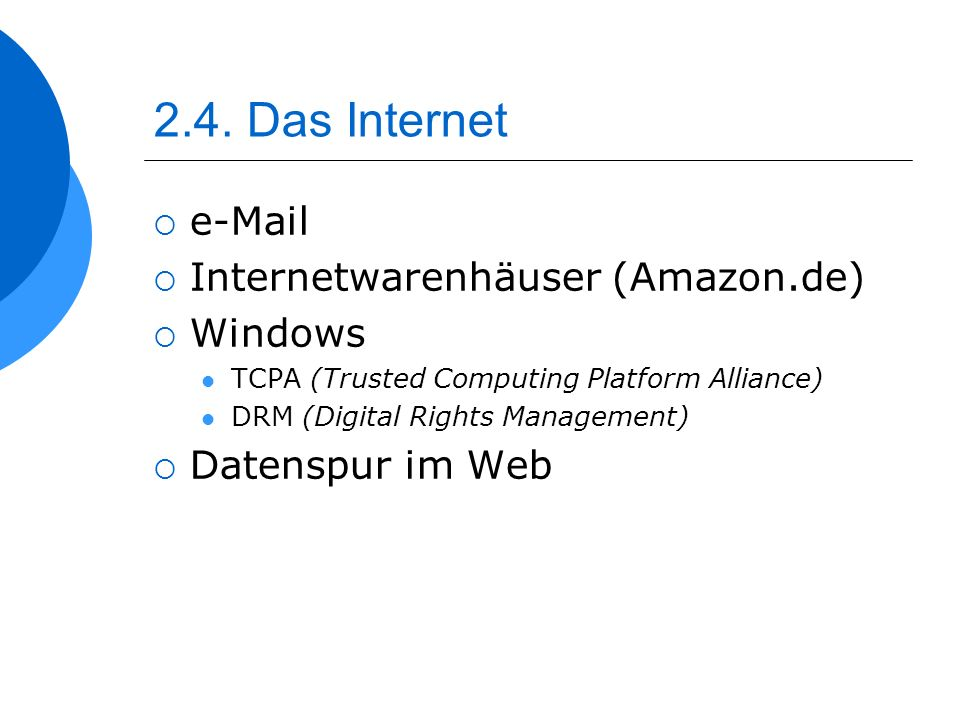 2.4. Das Internet e-Mail Internetwarenhäuser (Amazon.de) Windows