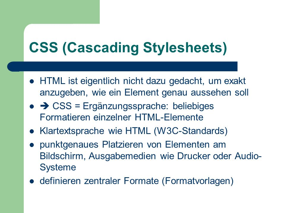CSS (Cascading Stylesheets)