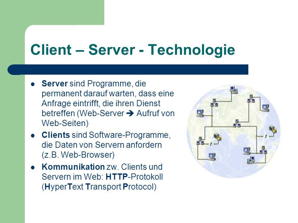 Client – Server - Technologie
