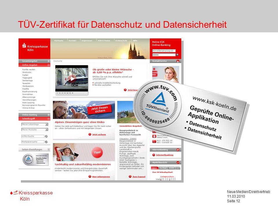 TÜV-Zertifikat für Datenschutz und Datensicherheit
