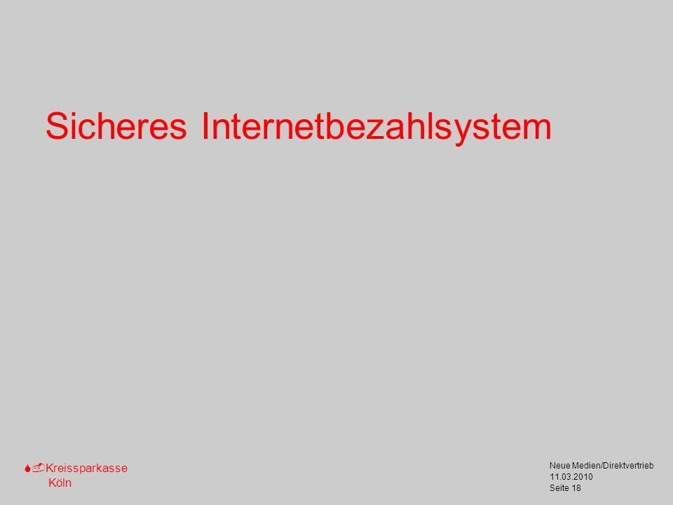 Sicheres Internetbezahlsystem