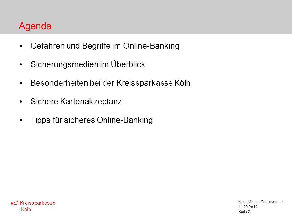 Agenda Gefahren und Begriffe im Online-Banking