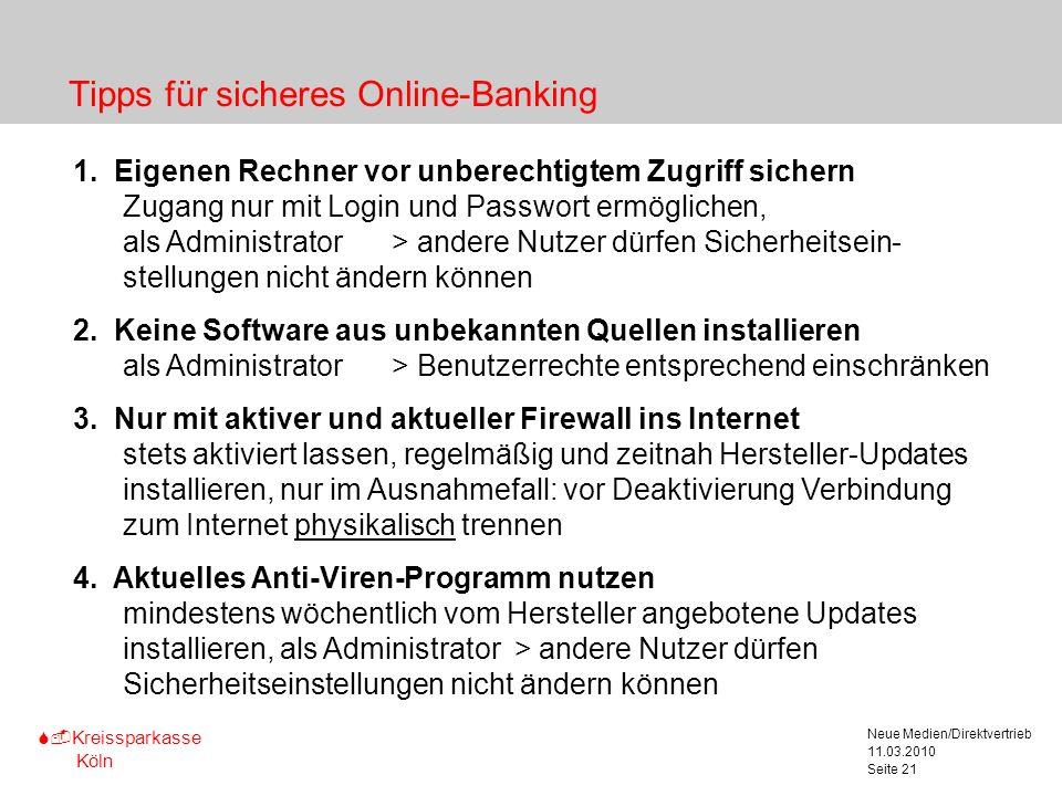 Tipps für sicheres Online-Banking
