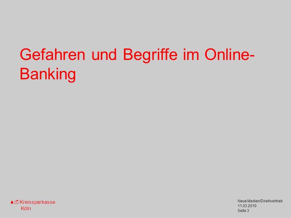 Gefahren und Begriffe im Online-Banking