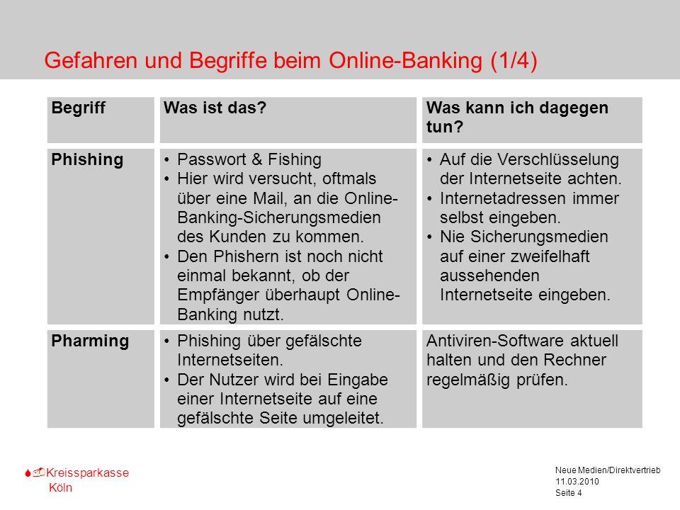 Gefahren und Begriffe beim Online-Banking (1/4)
