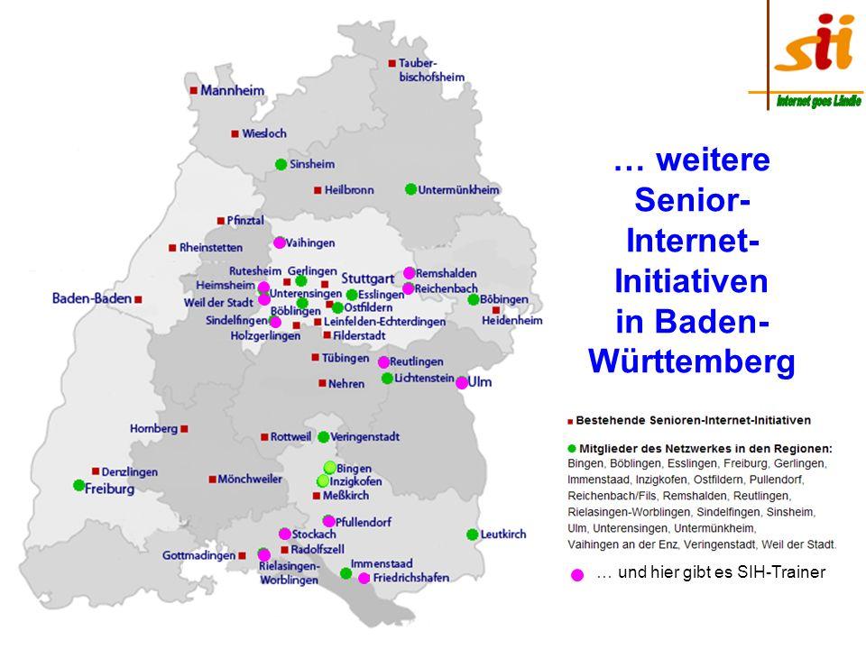 Senior- Internet-Initiativen in Baden-Württemberg