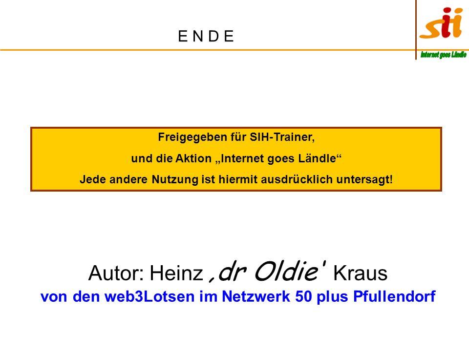 "E N D E Internet goes Ländle. Freigegeben für SIH-Trainer, und die Aktion ""Internet goes Ländle"