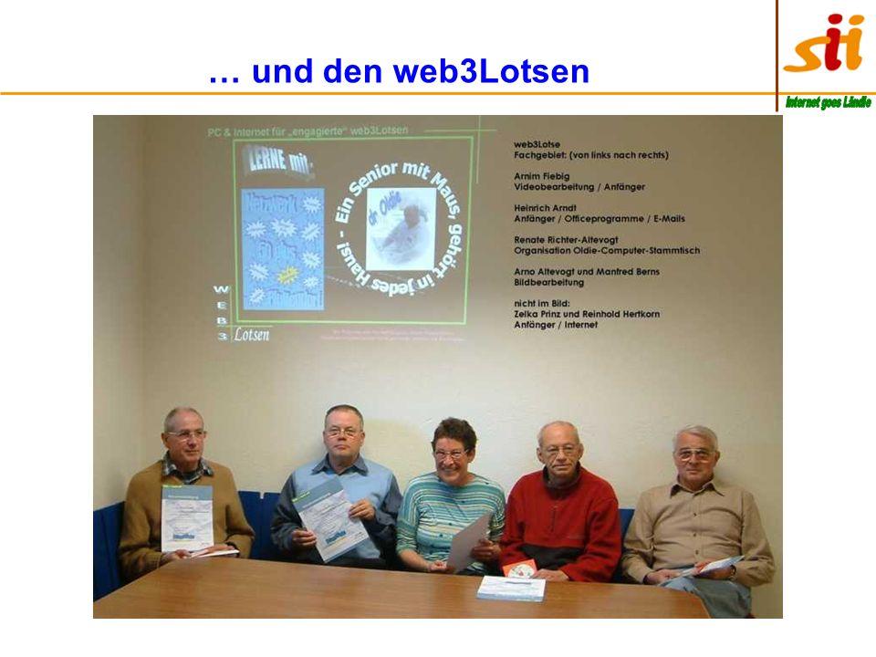 … und den web3Lotsen Internet goes Ländle