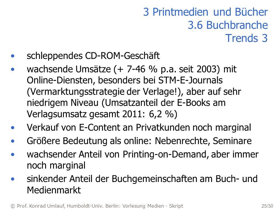 3 Printmedien und Bücher 3.6 Buchbranche Trends 3