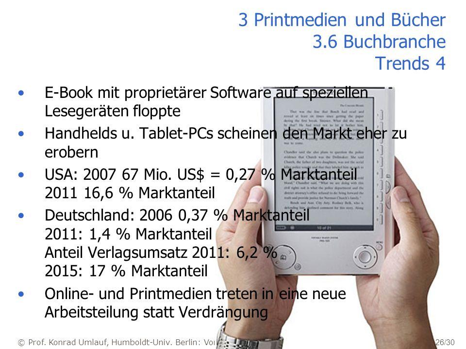 3 Printmedien und Bücher 3.6 Buchbranche Trends 4