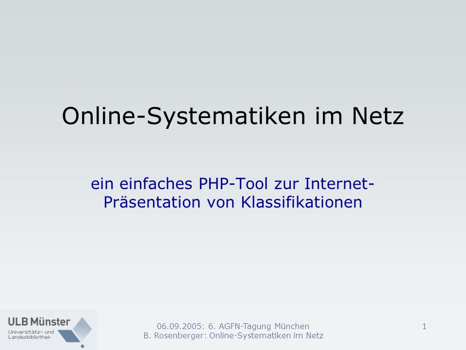 Online-Systematiken im Netz