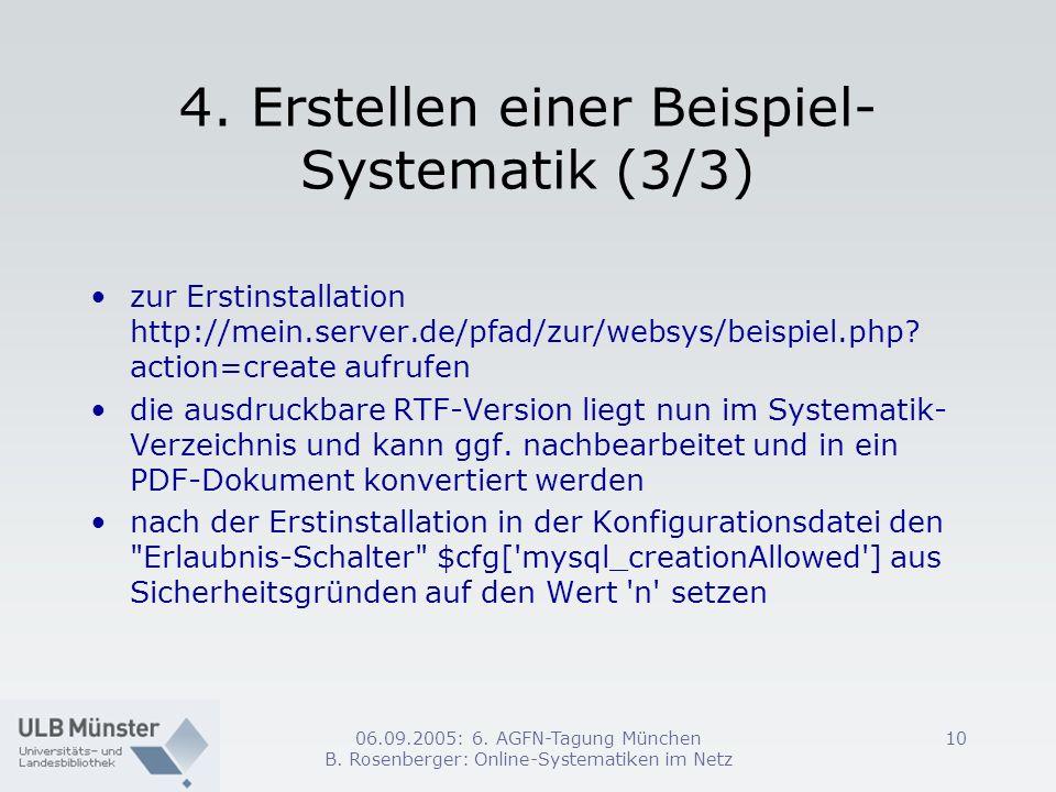 4. Erstellen einer Beispiel-Systematik (3/3)