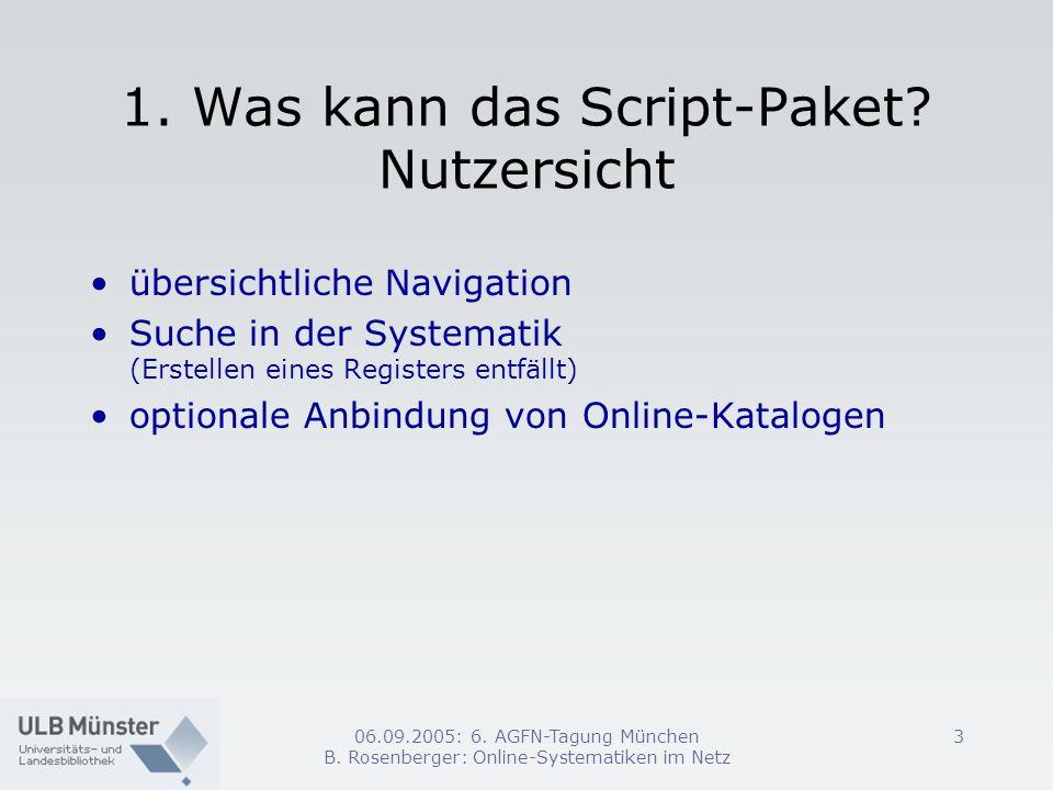 1. Was kann das Script-Paket Nutzersicht