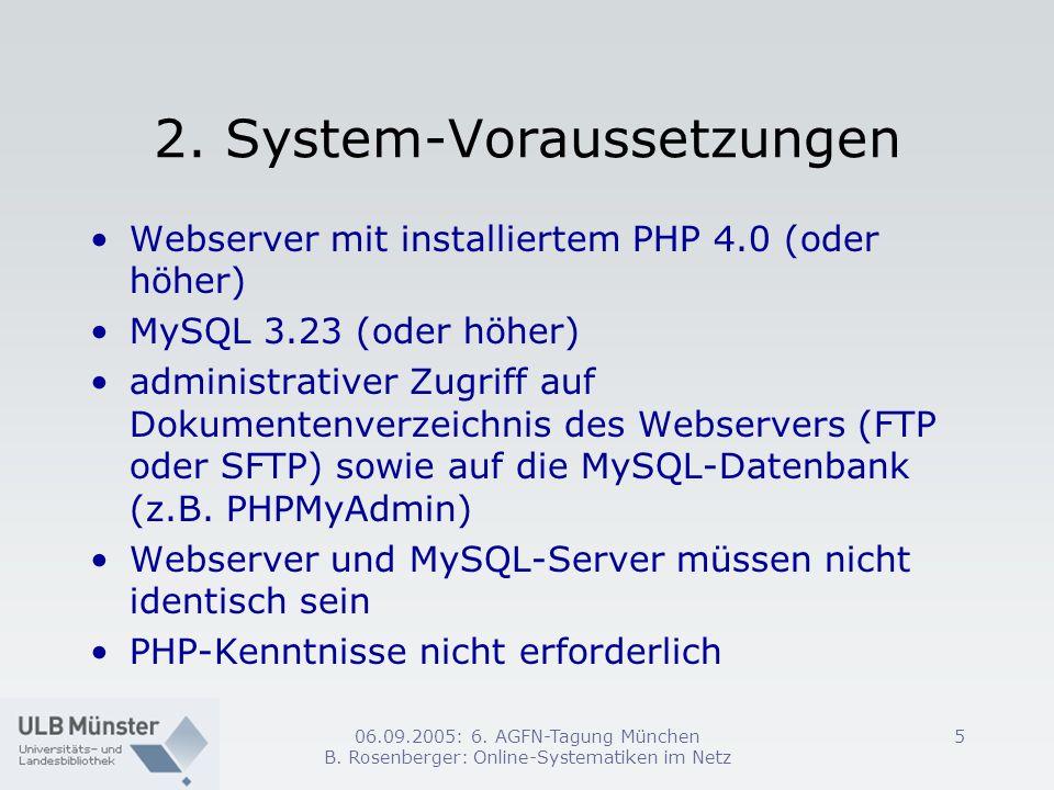 2. System-Voraussetzungen