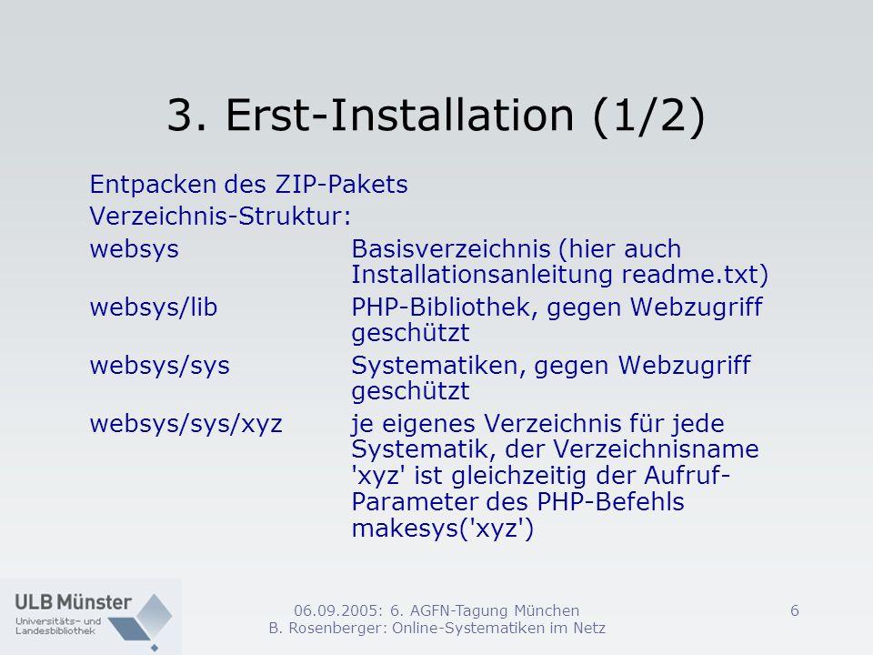 3. Erst-Installation (1/2)