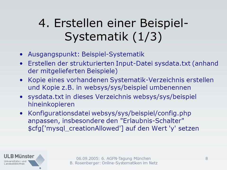 4. Erstellen einer Beispiel-Systematik (1/3)