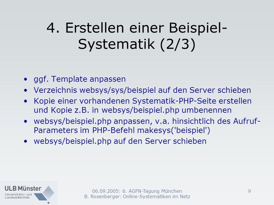 4. Erstellen einer Beispiel-Systematik (2/3)