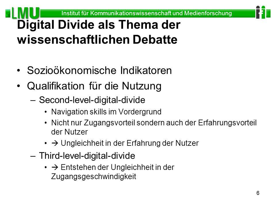 Digital Divide als Thema der wissenschaftlichen Debatte