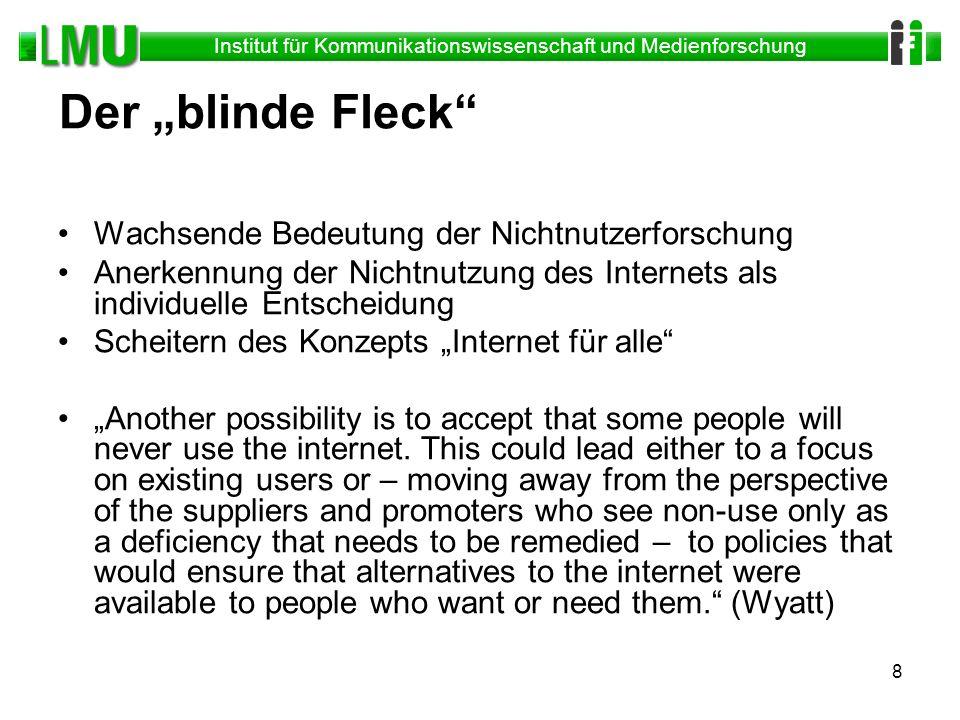 """Der """"blinde Fleck Wachsende Bedeutung der Nichtnutzerforschung"""