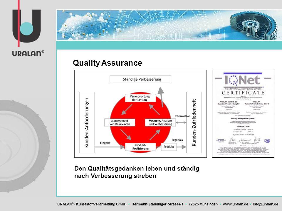 Quality Assurance Den Qualitätsgedanken leben und ständig nach Verbesserung streben