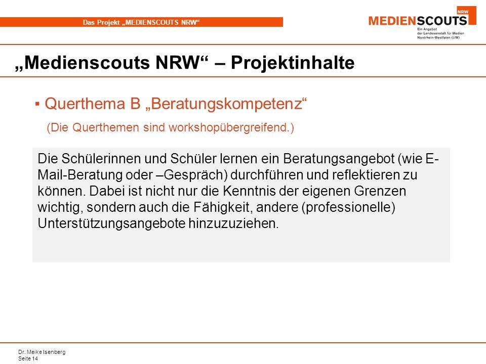"""""""Medienscouts NRW – Projektinhalte"""