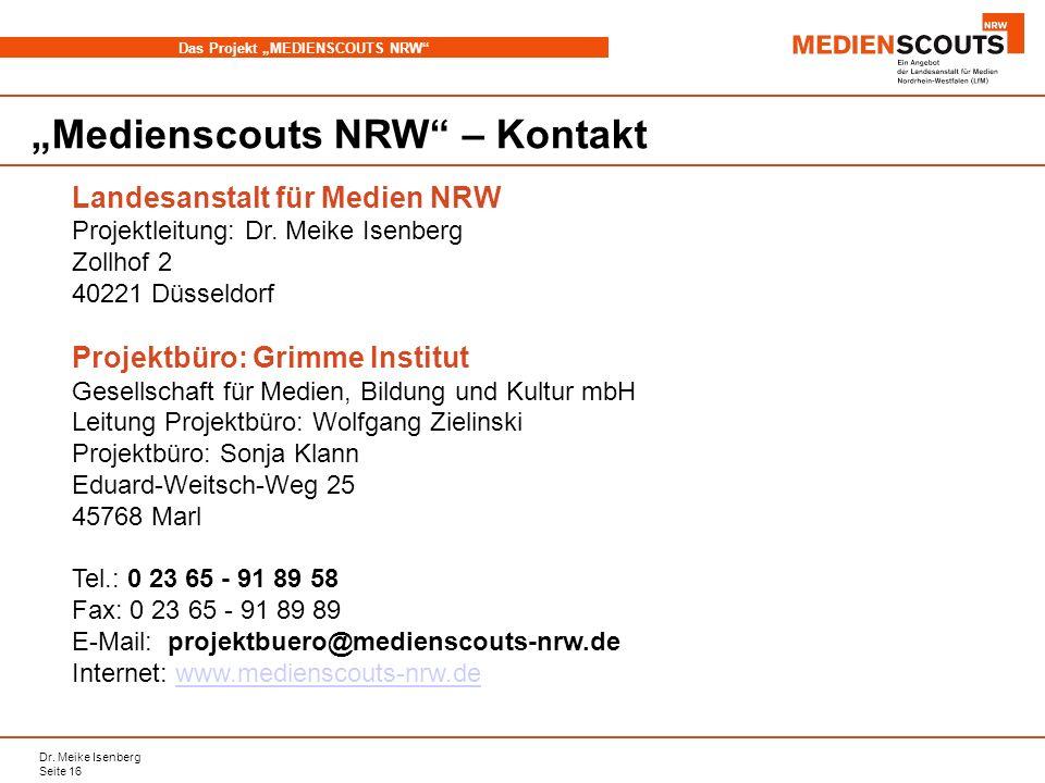 """Medienscouts NRW – Kontakt"