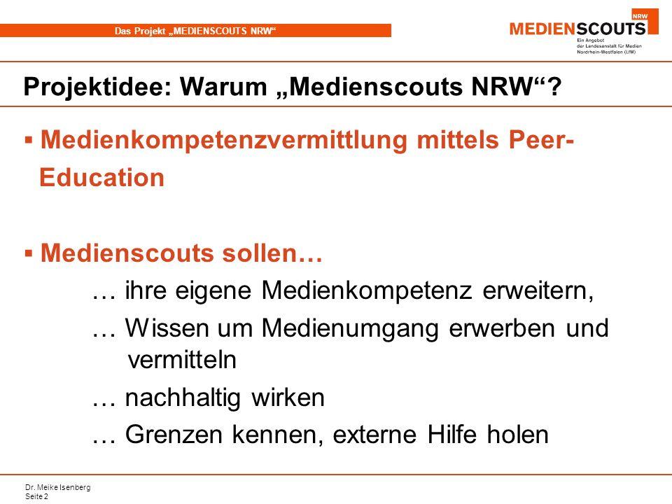 "Projektidee: Warum ""Medienscouts NRW"