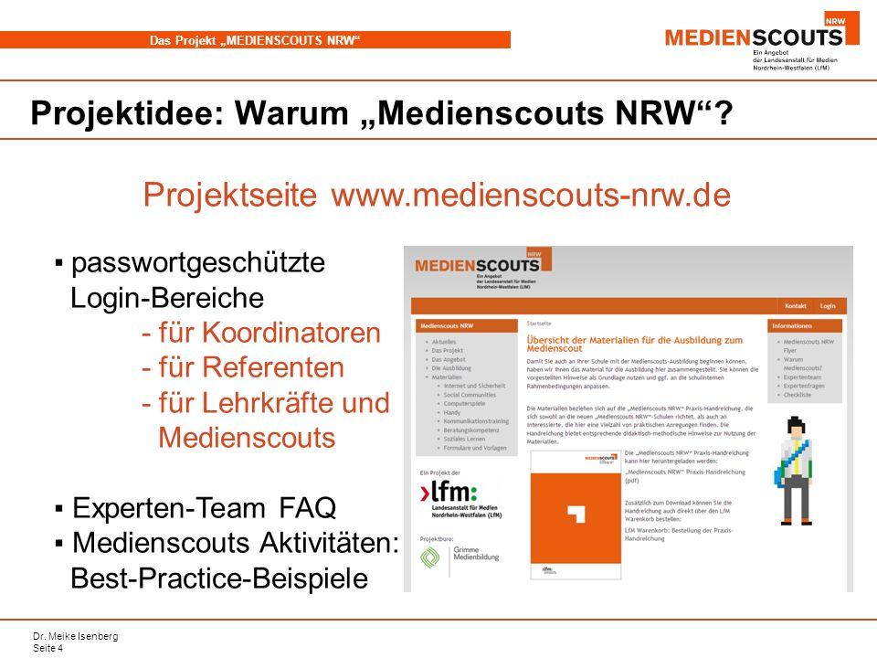 Projektseite www.medienscouts-nrw.de