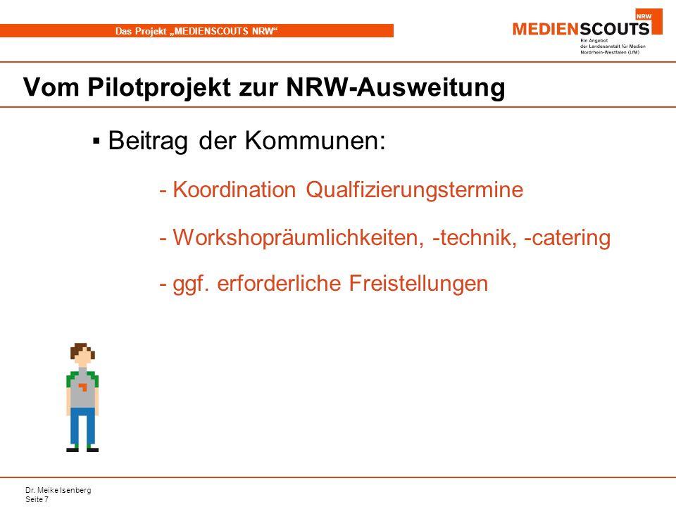 Vom Pilotprojekt zur NRW-Ausweitung
