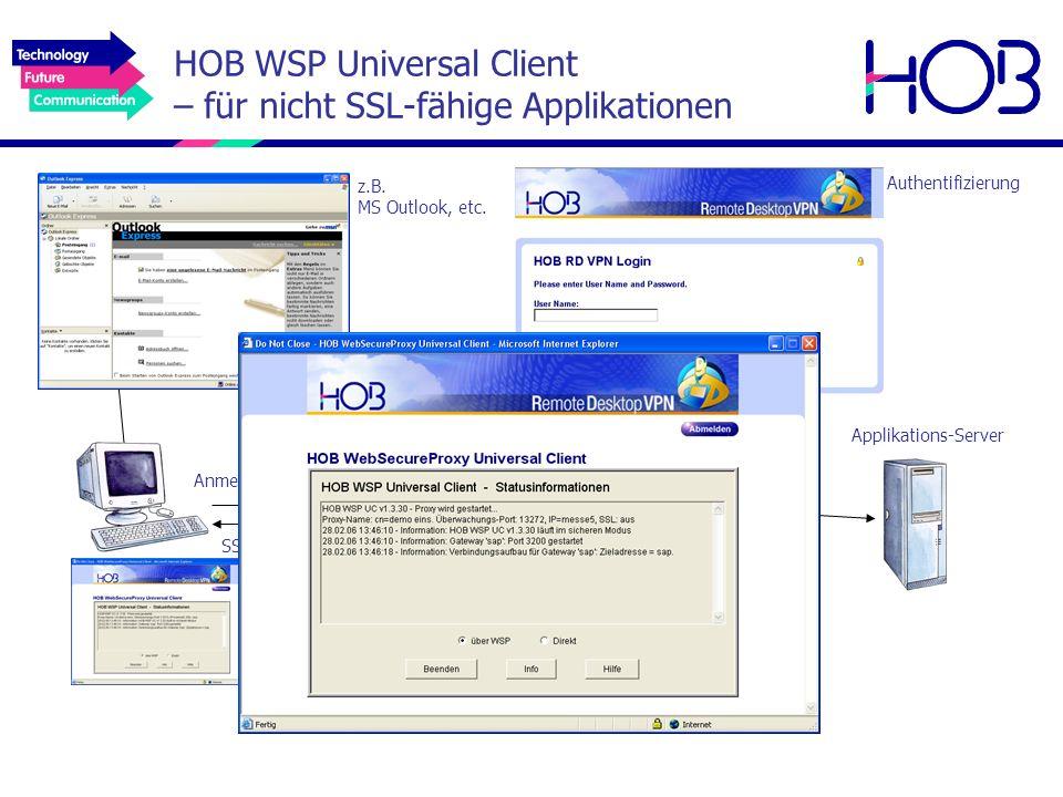 HOB WSP Universal Client – für nicht SSL-fähige Applikationen