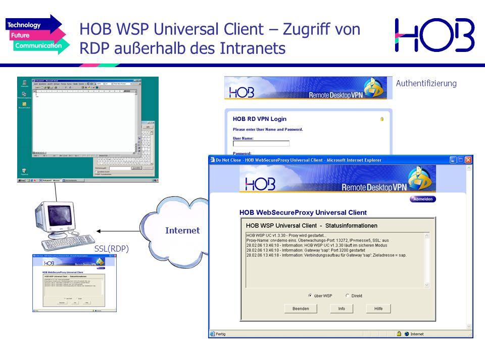 HOB WSP Universal Client – Zugriff von RDP außerhalb des Intranets