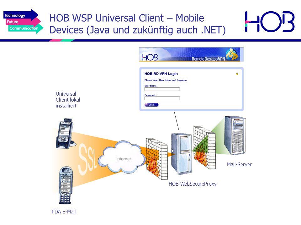 HOB WSP Universal Client – Mobile Devices (Java und zukünftig auch