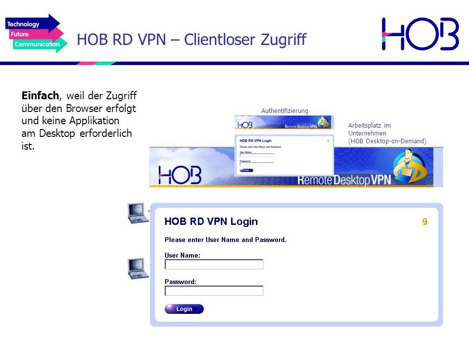 HOB RD VPN – Clientloser Zugriff