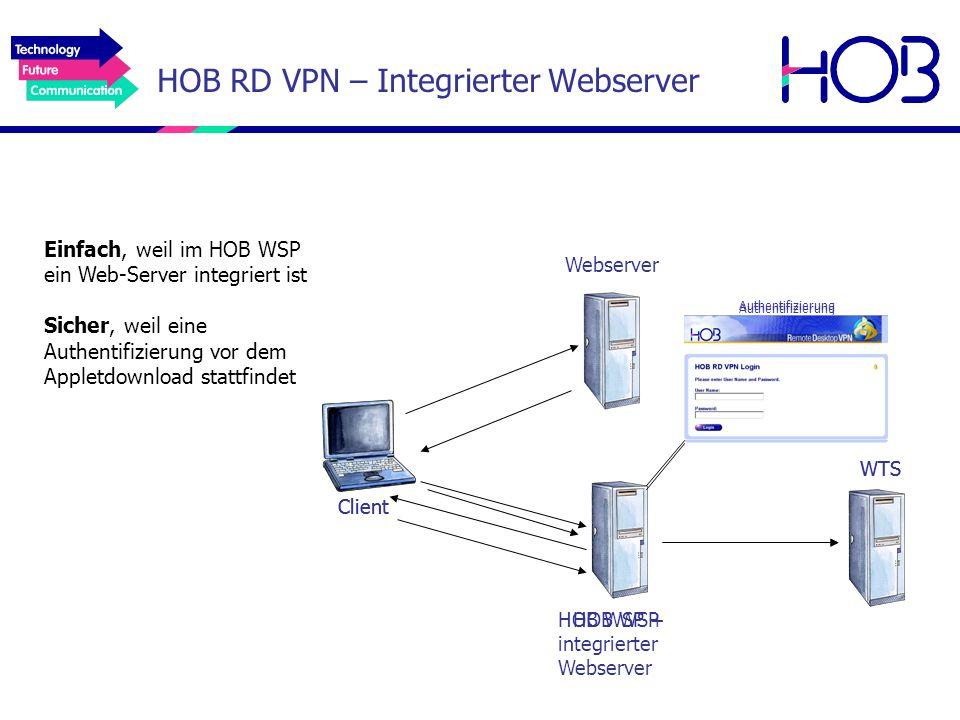 HOB RD VPN – Integrierter Webserver