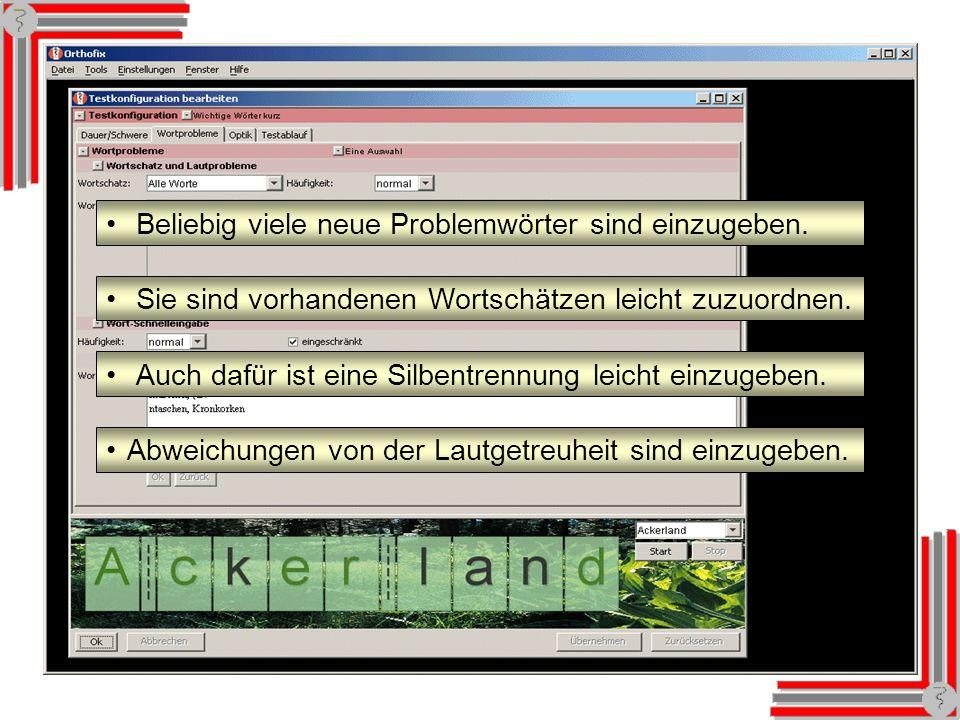 Textkonfiguration: Wortprobleme