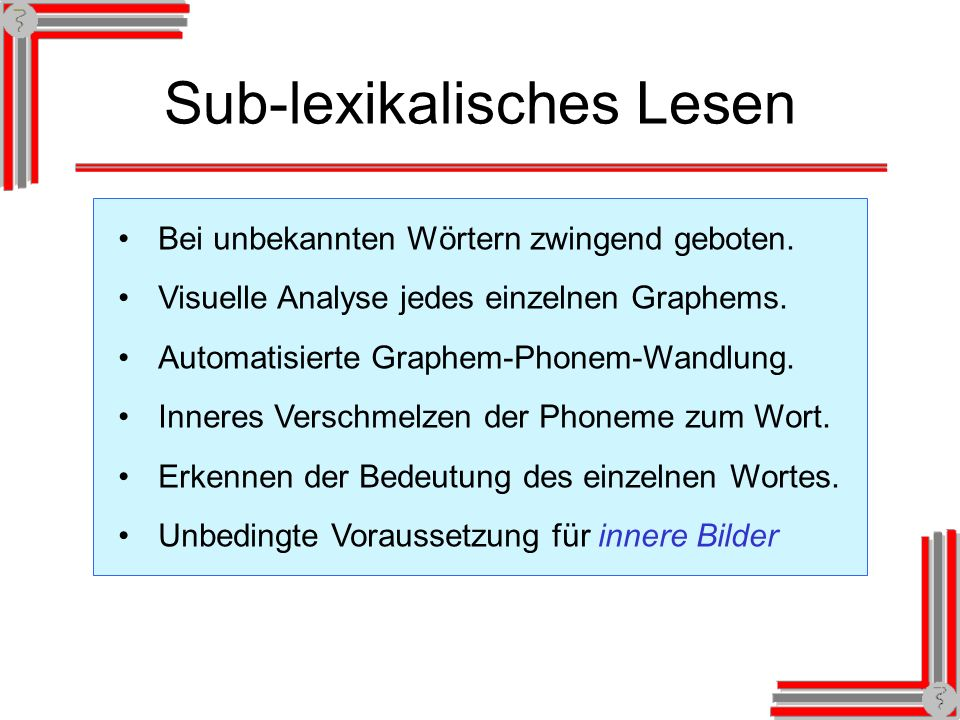 Sub-lexikalisches Lesen