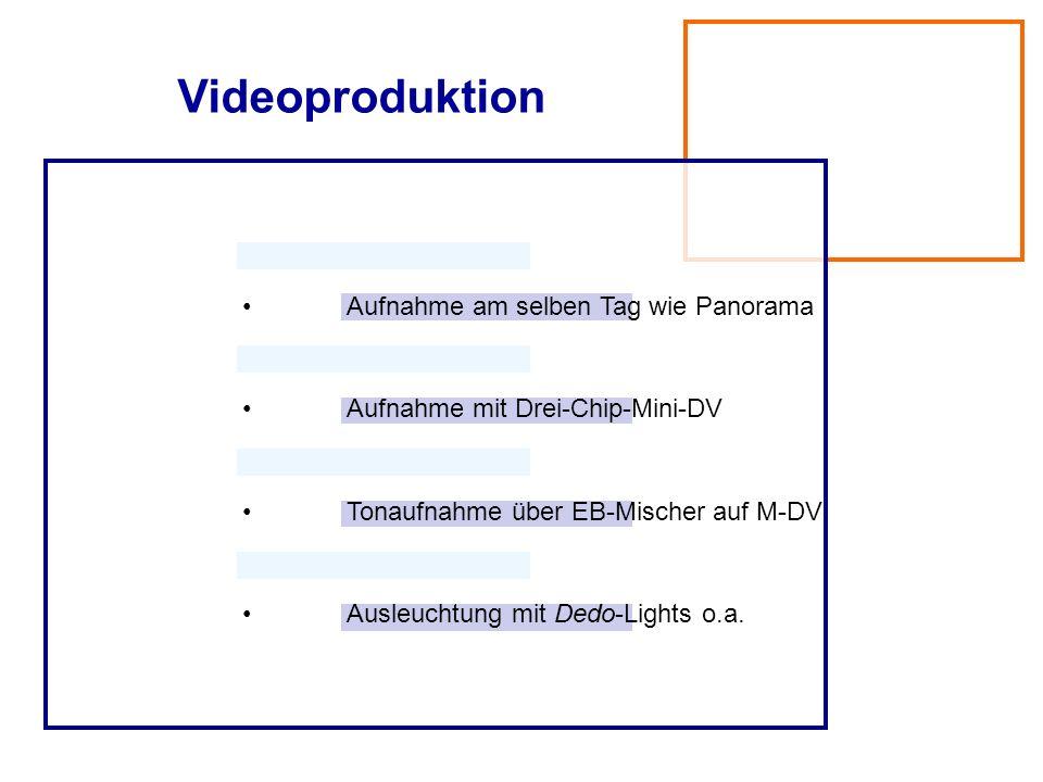Videoproduktion • Aufnahme am selben Tag wie Panorama