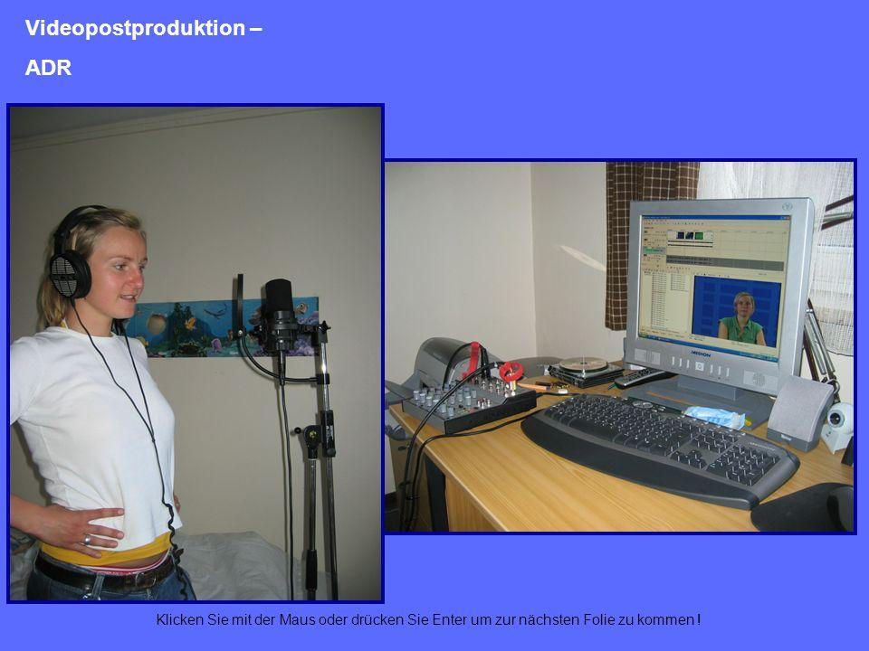 Videopostproduktion – ADR