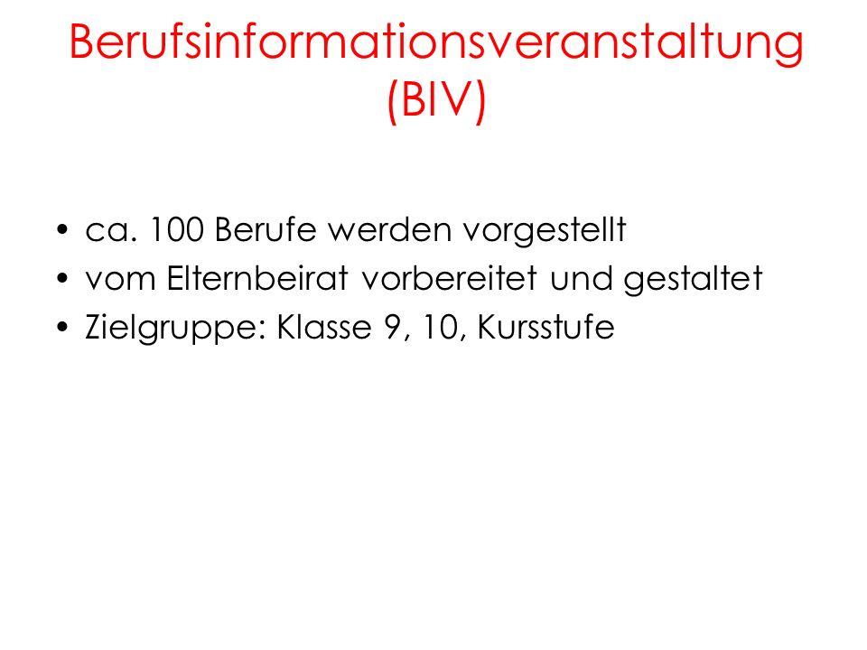 Berufsinformationsveranstaltung (BIV)