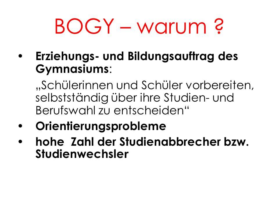 BOGY – warum 2. Erziehungs- und Bildungsauftrag des Gymnasiums: