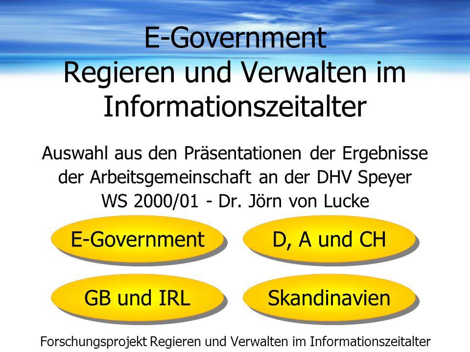 E-Government Regieren und Verwalten im Informationszeitalter