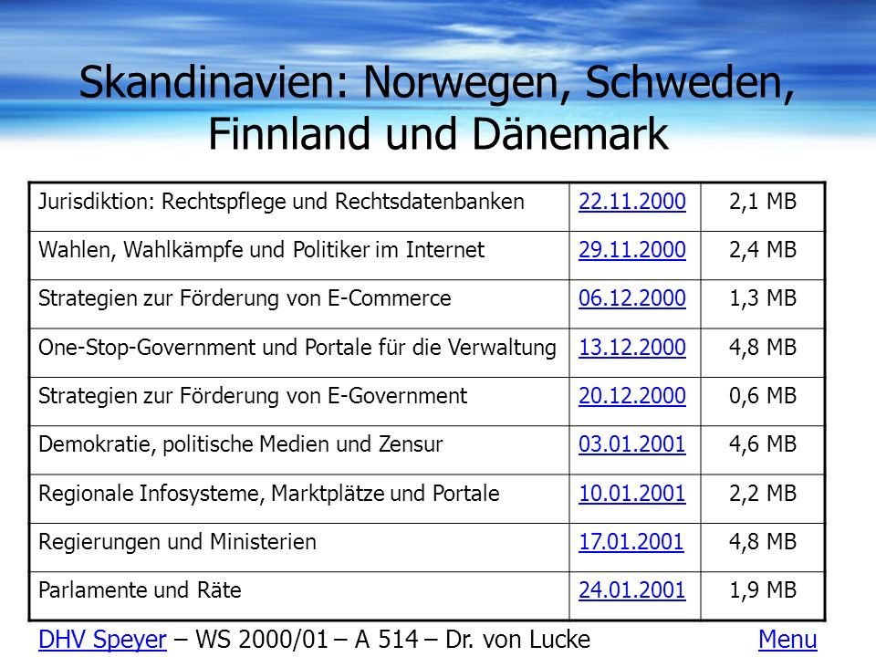 Skandinavien: Norwegen, Schweden, Finnland und Dänemark