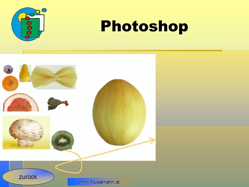Photoshop zurück