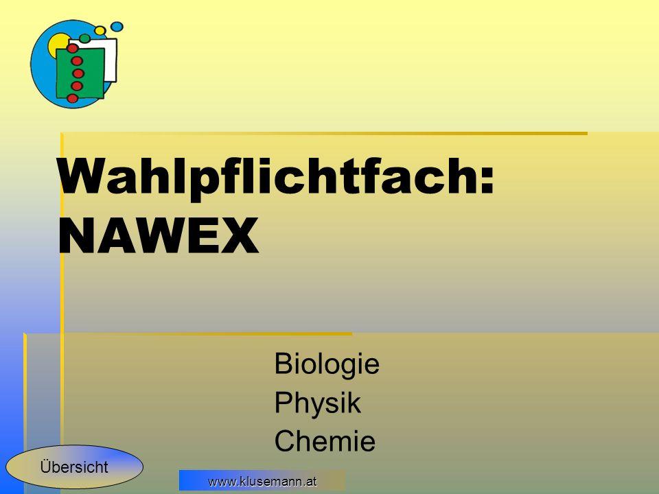 Wahlpflichtfach: NAWEX