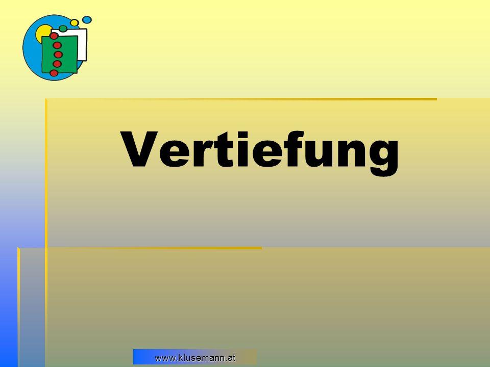 Vertiefung www.klusemann.at