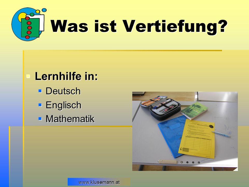 Was ist Vertiefung Lernhilfe in: Deutsch Englisch Mathematik