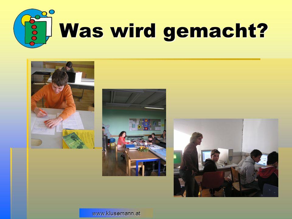 Was wird gemacht www.klusemann.at