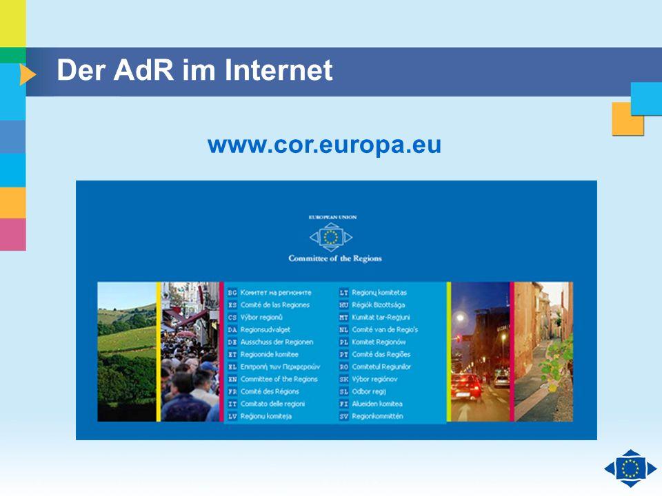Der AdR im Internet www.cor.europa.eu