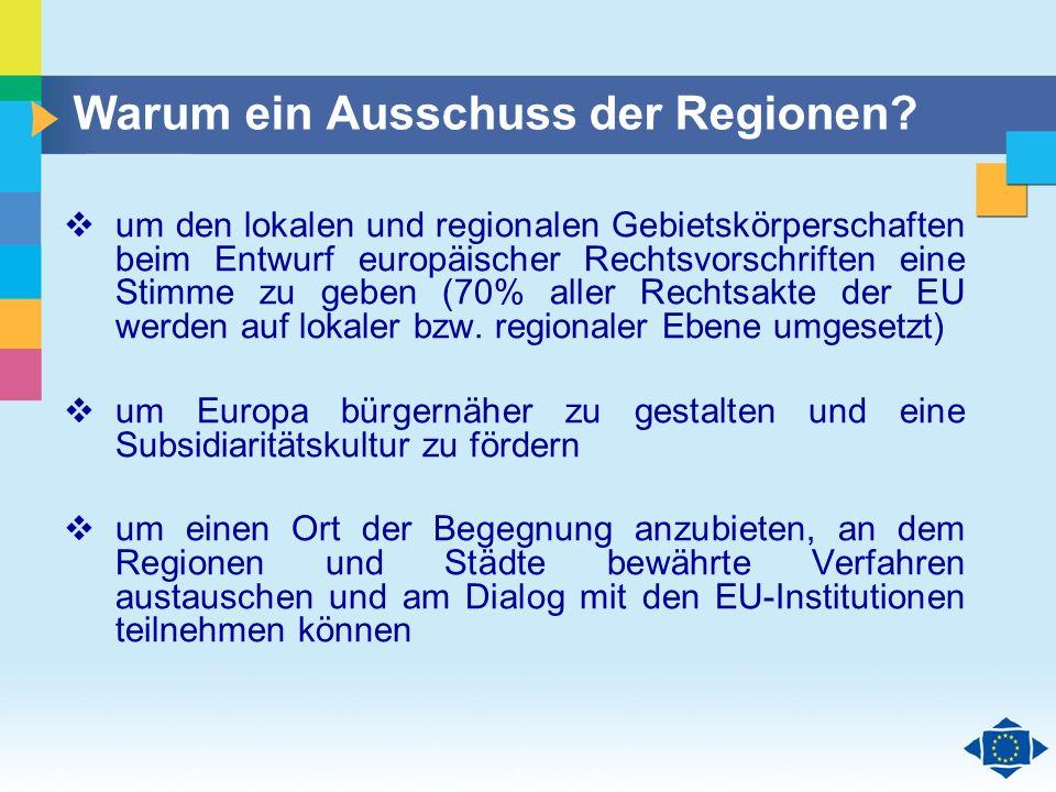 Warum ein Ausschuss der Regionen